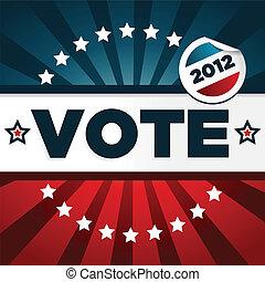 patriottico, manifesto, votazione