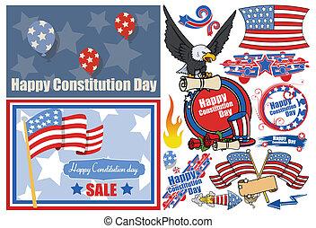 patriottico, progetta, costituzione, giorno