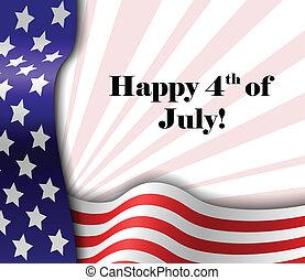 patriottico, testo, luglio, 4, cornice