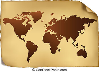 pattern., mappa, mondo, vendemmia