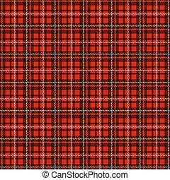 pattern., seamless, checkered, fondo., vettore, tartan
