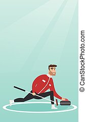 pattinaggio, gioco, arricciamento, sportivo, rink.