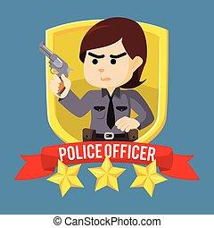 pattugli donna, emblema, ufficiale