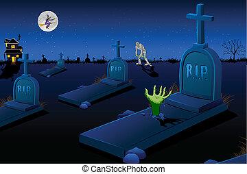 pauroso, cimitero