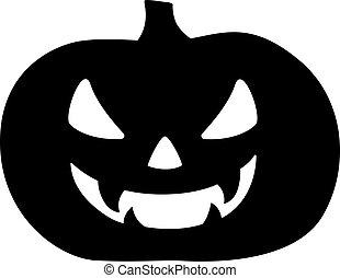 pauroso, cricco, logo., segno, zucca, nero, male, pictogram, halloween, lanterna, face., o, icon., vettore, silhouette, -