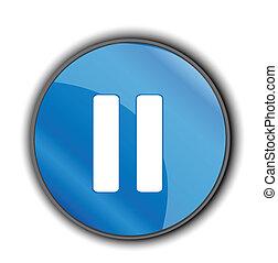 pausa, /, elemento, disegno, bottone, icona