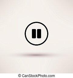pausa, illustration., isolato, rottura, vettore, icona