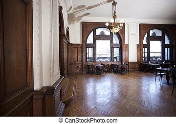 pavimento legno duro, ristorante
