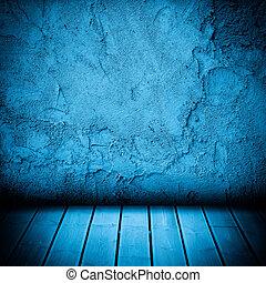pavimento, parete, concreto, legno, fondo, textured