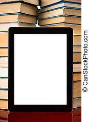 pc, libri, tavoletta