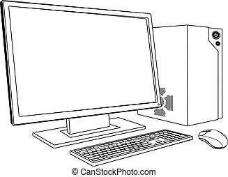 pc, workstation, computer, desktop