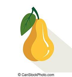 pear., succoso, frutta, maturo
