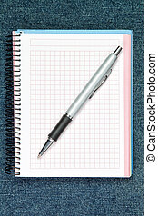 pen., ballpoint, fondo, notebook.