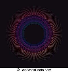pendenza, arcobaleno, cerchio, vettore