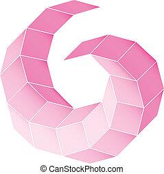pendenza, figura, vettore, polyhedral, stella, 3d.
