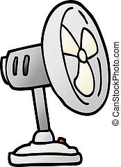 pendenza, illustrazione, desktop, vettore, ventilatore, cartone animato