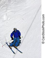 pendio, sciatore