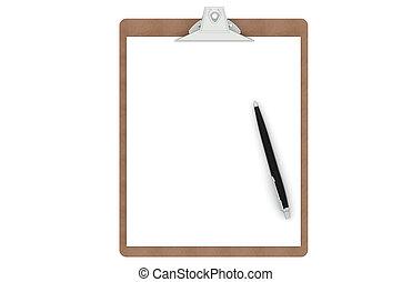 penna, carta, appunti, vuoto
