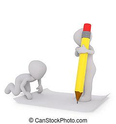 penna, carta, bianco, scrittura