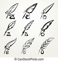 penna penna, inchiostro, collezione