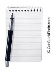 penna, quaderno, spirale