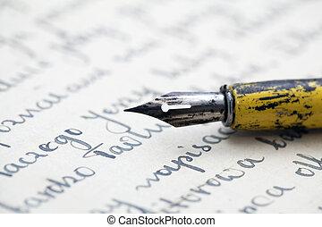 penna, vecchia lettera