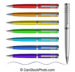 penne, colorato