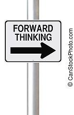 pensare, avanti