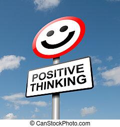 pensare, positivo, concept.