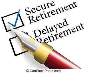 pensionamento, assicurare, investimento, scegliere