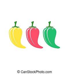pepe peperoncini rossi, icone
