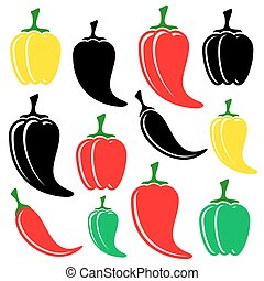 peperoni, nero, colorito