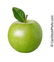 percorso, ritaglio, mela verde