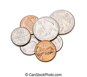 percorso, ritaglio, monete