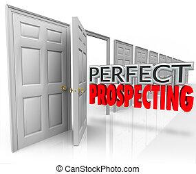 perfetto, cliente, attivo, apertura, vendite, prospezione, tecnica