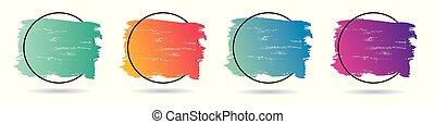 perfetto, set, grunge, frame., banner., manifesto, sopra, struttura, vernice, vettore, disegno, acrilico, logotipo, titolo