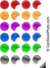 perfetto, web, elements., aggiungere, aqua, collezione, testo, icons., promozione, style., lucido