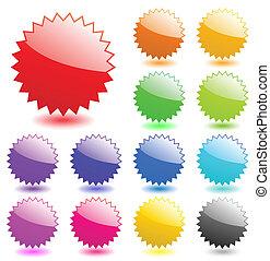 perfetto, web, elements., aggiungere, gallery., aqua, testo, variopinto, vettore, icons., più, mio, style., lucido