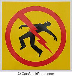 pericolo, elettroesecuzione, segno