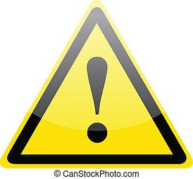 pericolo, simbolo di avvertenza