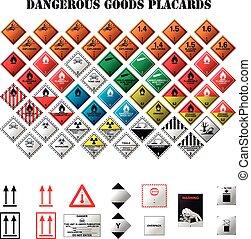 pericoloso, affissi, beni