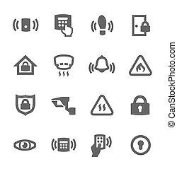 perimetro, sicurezza, icone
