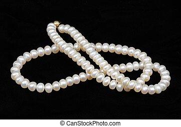 perla, coltivato, necklace.