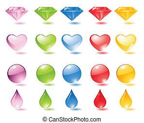 perle, set, icona