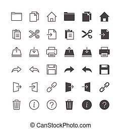 permettere, normale, icone, state., domanda, included, toolbar