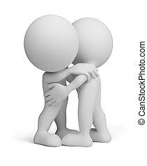 persona, abbraccio, -, amichevole, 3d