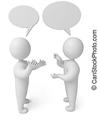 persona, conversazione, render, 3d
