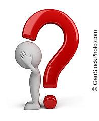 persona, -, domanda, 3d, marchio