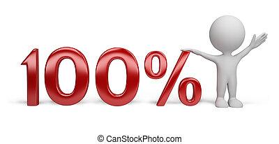 persona, -, percento, 3d