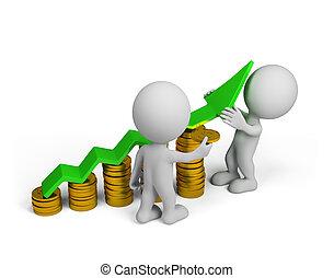 persona, -, successo finanziario, 3d